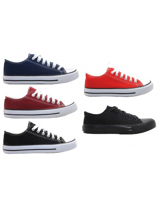 Unisex Flat All Star Lace Up Plimsolls Pumps Trainer Summer Canvas Shoes