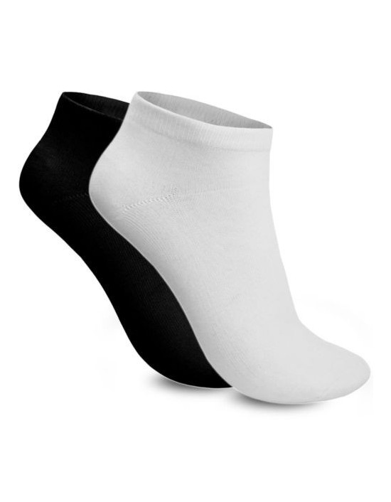 Mens Trainer Ankle Liner Socks 6 Pair Mix Black White Cotton Rich Socks