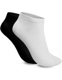 Mens Trainer Ankle Liner Socks 6 Pair Mix Black White Cotton Rich Socks