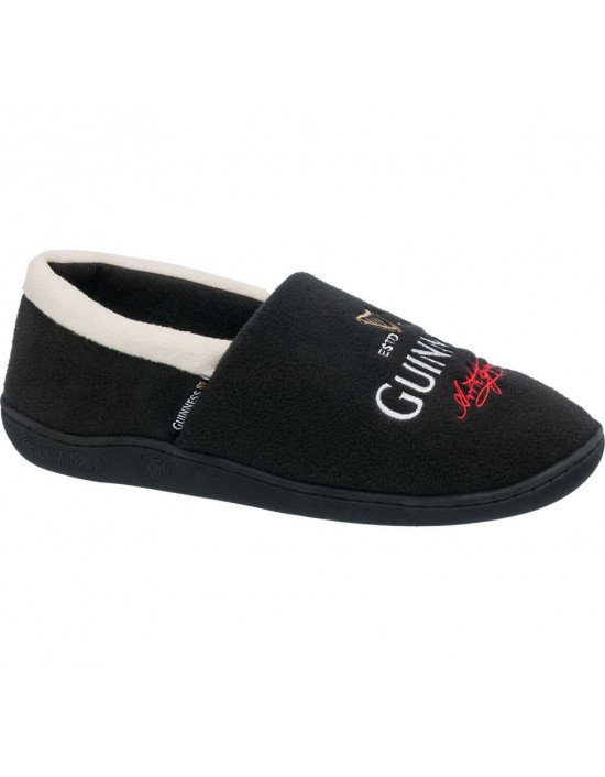 Mens 'Official' Licensed Guinness Signature Cushioned Sole Full Slippers