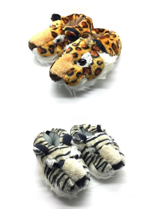 Unisex Tiger Lion Animal Novelty Funny Slippers Size UK3 to UK14