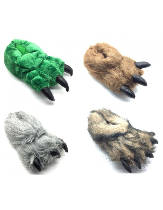NEW Men's & Women's Novelty Monster Claw Animal Slippers All Sizes