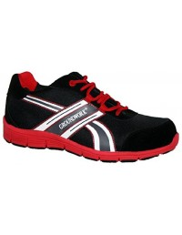 Groundwork Black & Red GR24 Lightweight Safety Warehouse Trainers