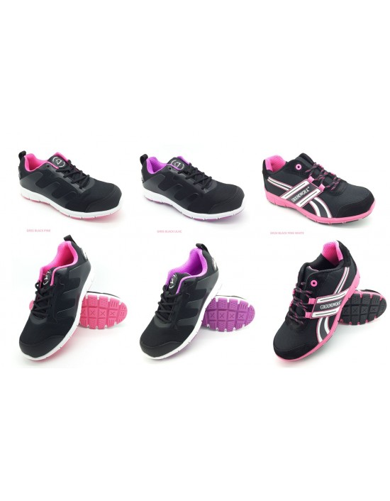 Ladies GROUNDWORK Ultra Lightweight Safety Steel Toe Cap Work Boots Trainers