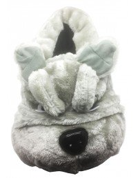 New Buster Mens Grey Novelty Bulldog Head Character Slippers Christmas Gift ALL SIZES