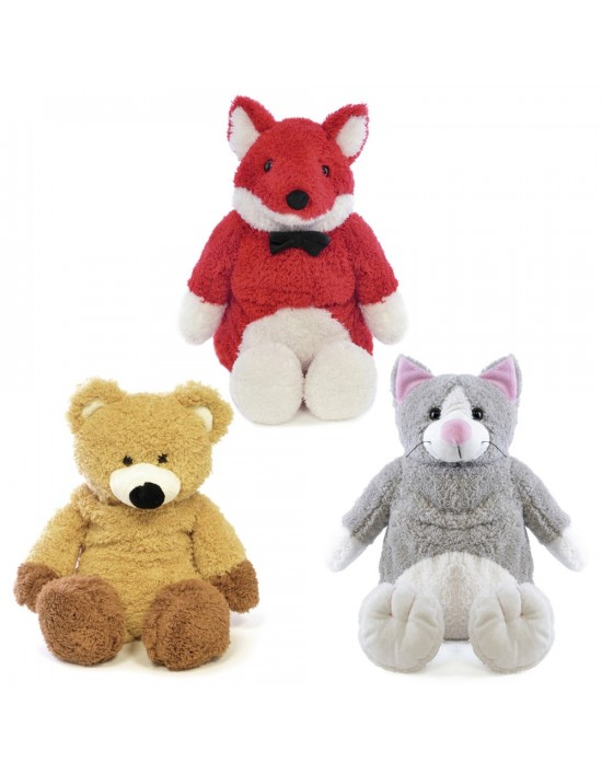 750ml Childrens Kids Hot Water Bottle Plush Cover Teddy Bear Fox Cat Animal