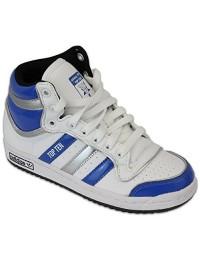 Adidas Teens Hi-Top Ten HI J Trainers G45810 White / Royal Blue New