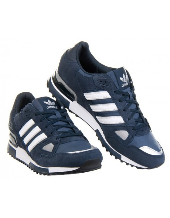 Adidas Originals ZX 750 Mens Running Trainers Navy Blue White Sneakers