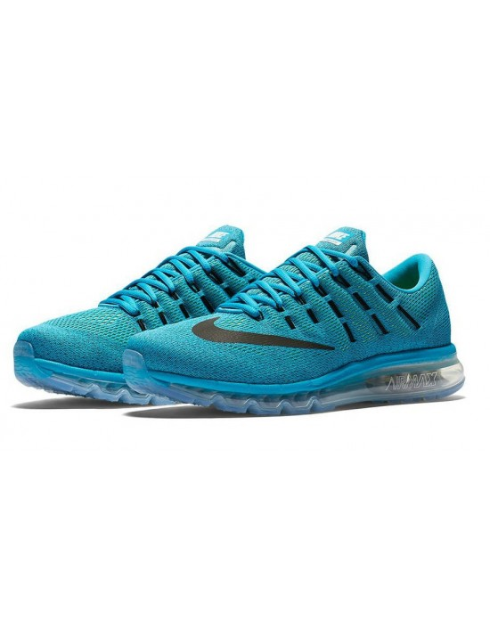 Nike Air Max 2016 Mens Running Shoes Sneakers Blue Lagoon 806771-400 UK 9.5