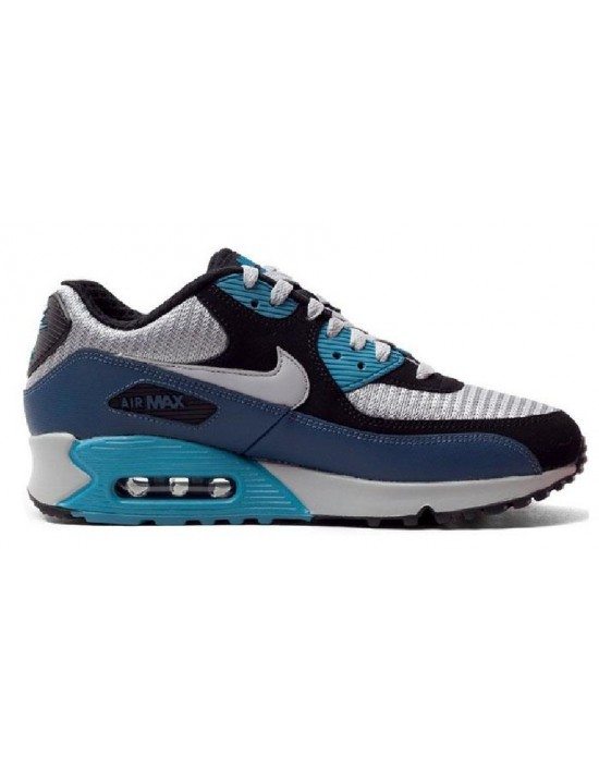 Nike AIR MAX 90 Essentials Squadron Blue Smart Running Trainers UK 7 537384 414
