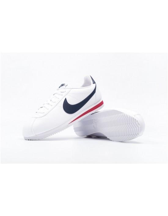 Nike Men's Cortez Classic Basic Prem QS White Low Top Running Trainers