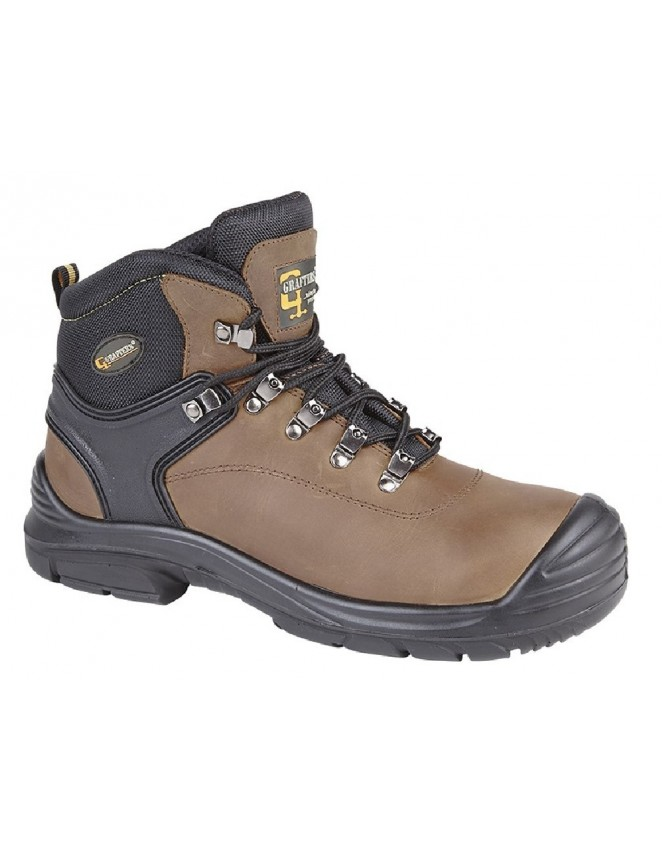 d2c53accf5b6 Grafters M9508 Super Wide Fitting Safety Toe Cap Steel Midsole Boots