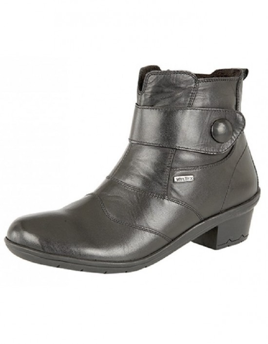 Ladies Mod Comfys L9501 Side Zip Dual Fitting Ankle Leather Boots