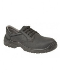 Grafters M9537A Unisex Black Leather Padded Collar Comfort Safety Shoes
