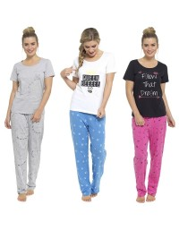 Ladies Pyjamas PJ Set Short Sleeve Nightwear Lounge Wear Pajamas Evening Dress