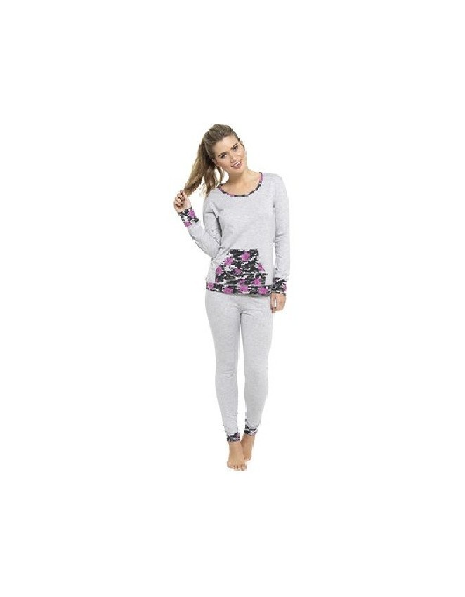 d06a9a2916 New Ladies Cotton Jersey Long Sleeve Top Camo Print Leggings Pyjamas Sets Nightwear  PJs
