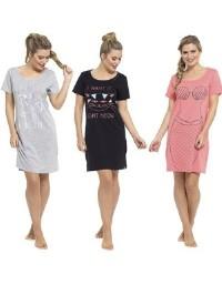 Ladies Fun Print Jersey Nightdress Cat Mermaid & Unicorn Pyjama Nightie