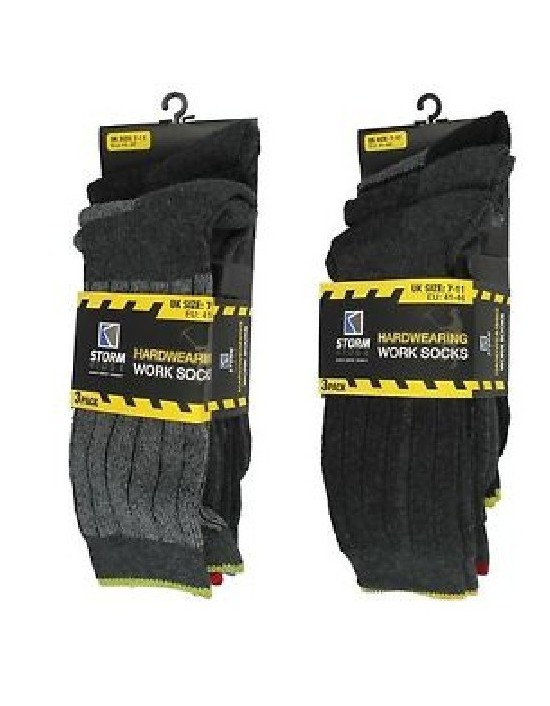 Mens 3 Pack Work Sock Sizes 7-11 UK
