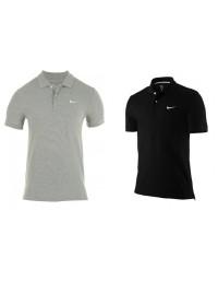 Mens Nike Slim Smart Fit Polo T Shirt Core Pique Black Grey