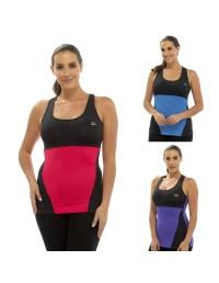 Ladies Gym Vest Sports Tank Top Women's Fitness Running Racer Vest LN309