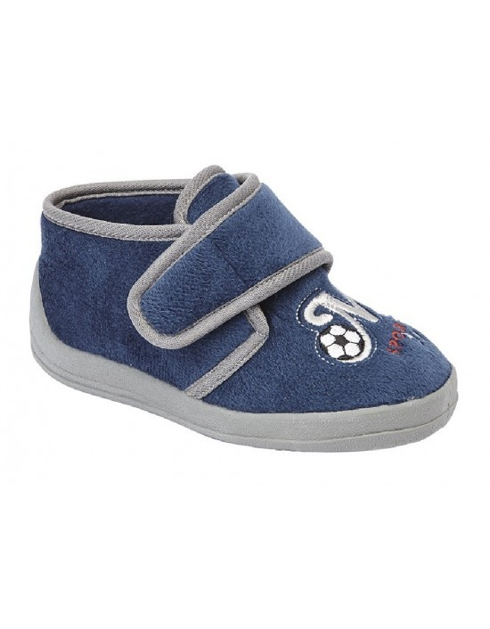Childs Boys Slippers Sleepers DEFENDER Textile Boots
