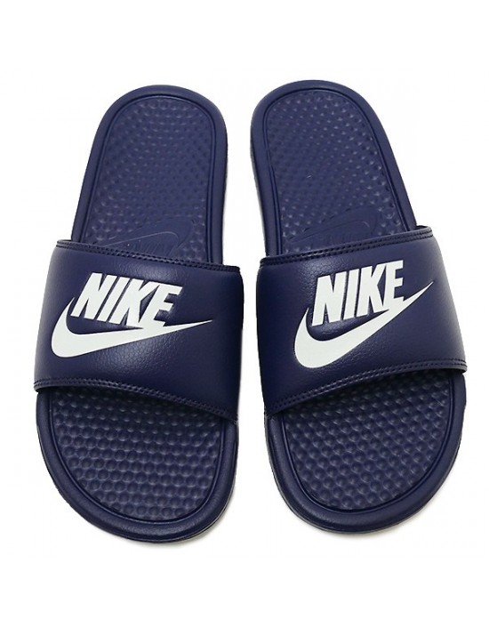 Nike Navy Benassi JDI Slide Mule Summer Sliders Sandals 343880 403