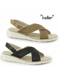 Dr Keller AQUARIUS Ladies Womens Slingback Summer Casual Touch Fasten Sandals