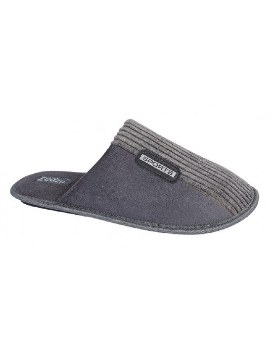 Mens Mule Slippers Zedzzz JOE Textile Impregnated Outsole