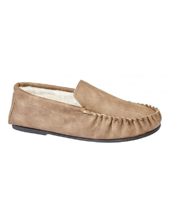 Mens Full Slippers Mokkers IAN Warm Lined Moccasin Slippers
