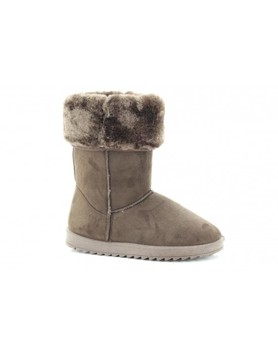 Ladies Frosty Chestnut Winter Warm Fur Casual Snow Comfy Classic Boots