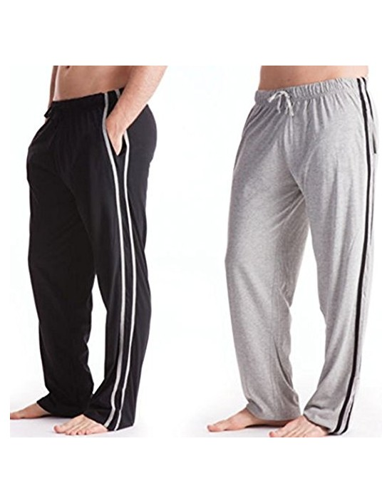 Mens Pyjamas Bottoms Trousers Cotton Mix pjs lounge plain jersey pants gym