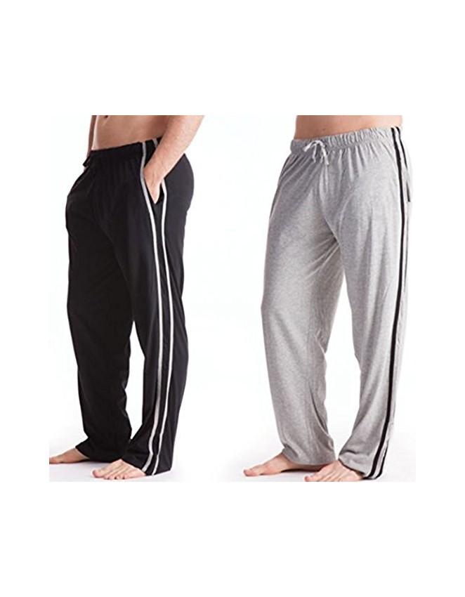 45e167f328b4 Mens Pyjamas Bottoms Trousers Cotton Mix pjs lounge plain jersey pants gym