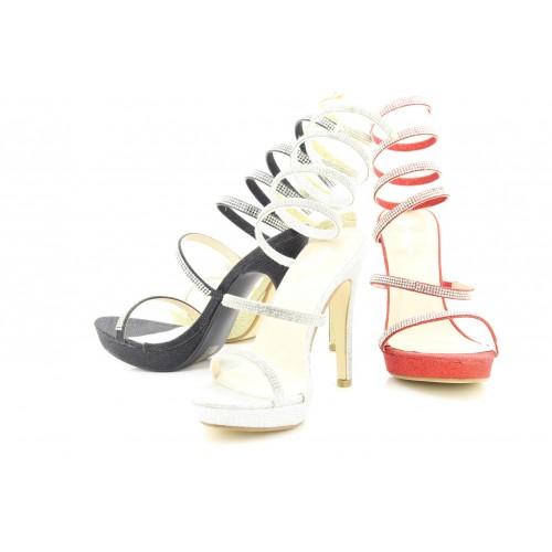 0b0a738aac3d Womens Emma Designer Spiral Diamante High Heel Sandals