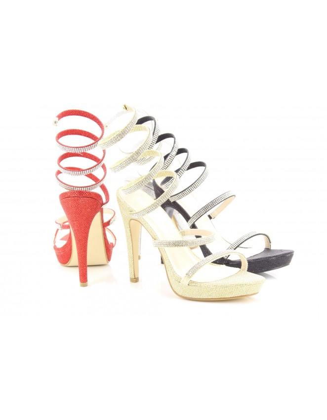 e8e733457bcc Womens Emma Designer Spiral Diamante High Heel Sandals