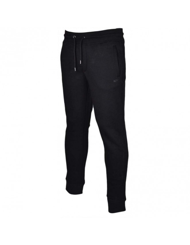 Armani Jeans 8N6P88 Slim Fit Cuffed Black Tracksuit Bottom Black Grey Navy
