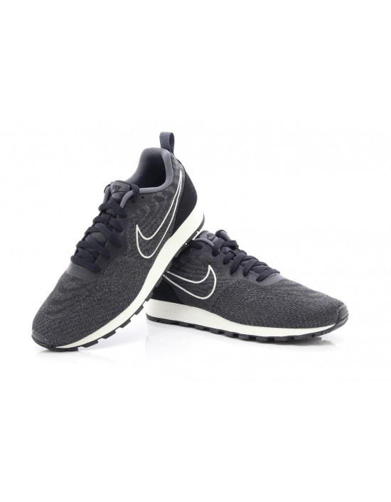 Mens Nike MD Runner 2 Eng Mesh Black Dark Grey 916774 002 Trainers