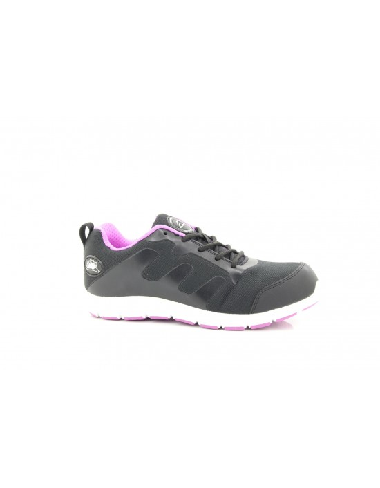 Groundwork Black Lilac Ultra Lightweight Steel Toe Cap Safety Trainers Shoes