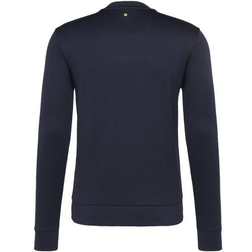 88d9b2577 Hugo Boss Salbo 50302094 059 Round Neck Sweatshirt Navy Blue Top | eBay