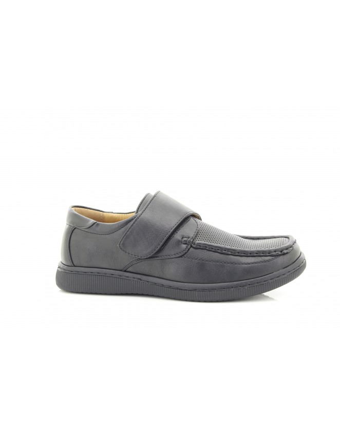 Dr Keller Albie Leather Upper Velcro Fastening Formal Square Toe Shoes