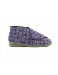 Mens Sleepers Brett Extra Wide Fitting Velcro® Bootee Slippers