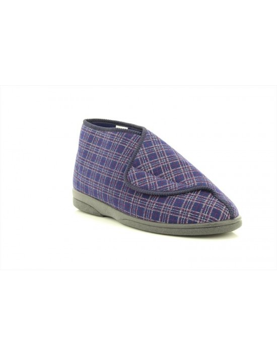 Sleepers Brett MS340 Extra Wide Fitting Touch Fastening Bootee Slippers