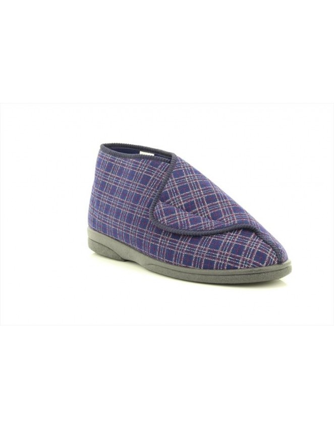 e04c5fc3277 Sleepers Brett MS340 Extra Wide Fitting Touch Fastening Bootee Slippers
