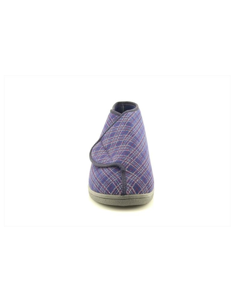 258a164c655 Sleepers Brett MS340 Extra Wide Fitting Touch Fastening Bootee Slipper