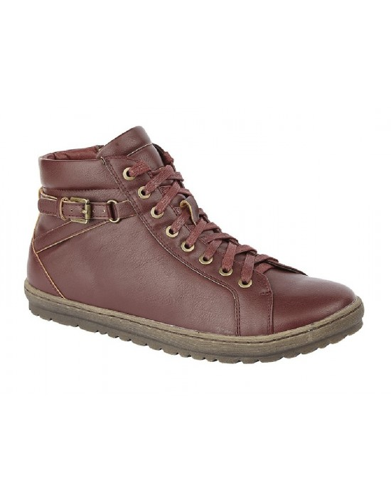 Cipriata L197 Ladies Lace to Toe Ankle Strap Boots