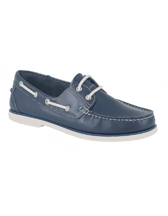 Mens Dek Leather Lace Up Moccasin Boat Shoes
