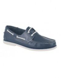 Mens Dek Leather Lace Up Moccasin Boat Shoes