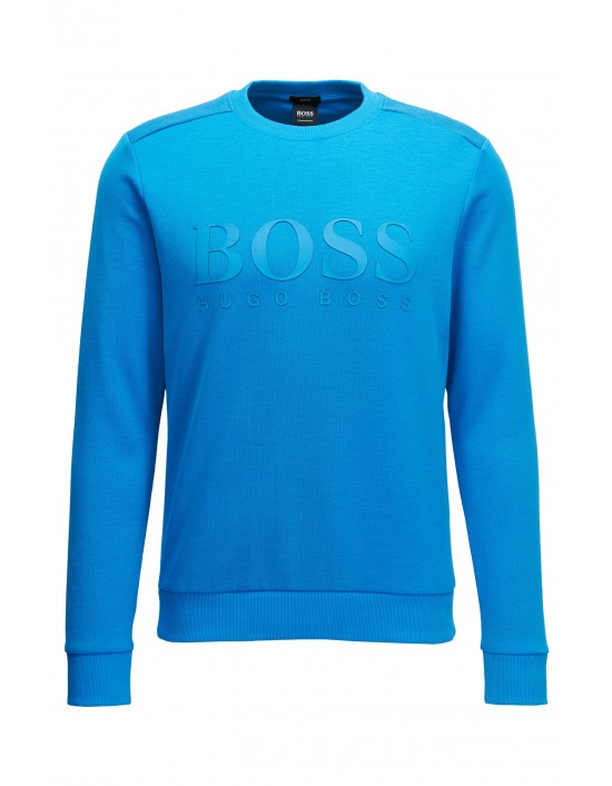 Mens Hugo Boss Green Salbo Sweatshirt Astor Blue NEW SS19