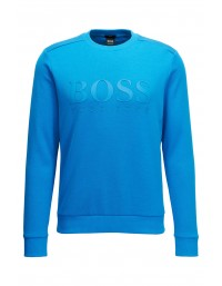 Mens Hugo Boss Green Salbo Sweatshirt Astor Blue NEW SS19