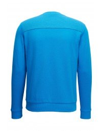 Hugo Boss Salbo Cotton Blend Sweater With Two Tone Logo Baby Blue Mens SS 2018