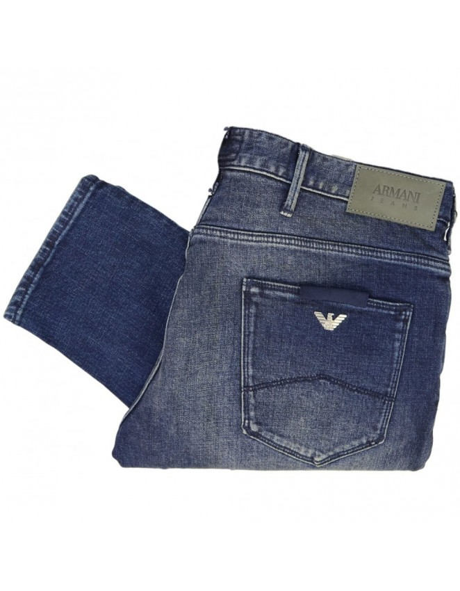 Mens Armani Jeans 6Y6J06 Denim Indaco Smart Slim Fit Jeans 6DGLZ 0f255e44c0fc